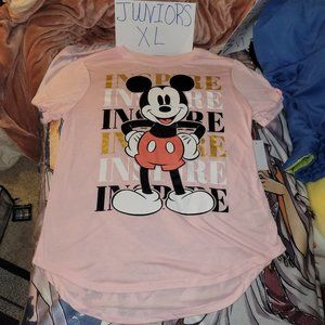 Juniors XL Mickey Mouse Inspire Graphic Tee NWT